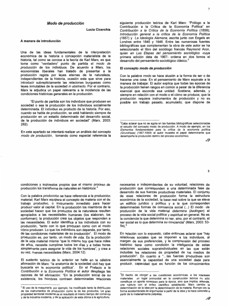 Cicerchia - Modo de Produccion