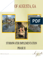 Presentation on the proposed Augusta Stormwater Fee