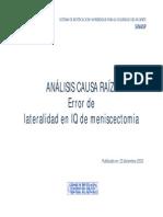 ACR Error Lateralidad