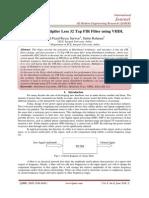 Design of Multiplier Less 32 Tap FIR Filter using VHDL