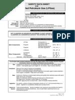 LPG Safety Data Sheet