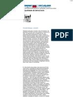 JN - A qualidade da democracia - Fernando Marques