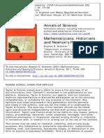 Mathematitians Historians and Newton's Principia