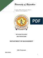 Scheme and Syllabus-MBA