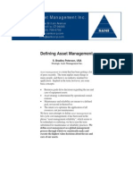 Defining Asset Management