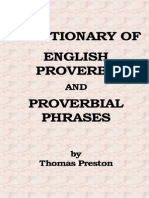 A Dictionary of English Proverbs and Proverbial Phrases