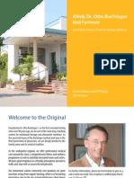 Clinica Buchinger Germania - terapia prin post negru