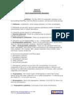 XI Chem Ch14 EnvironmentalChemistry ChapterNotes
