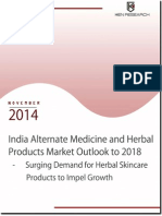 India Alternative Medicine and Herbal Products Market Size to 2018