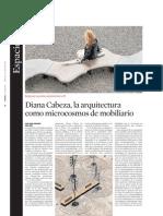 Diana Cabeza, La Arquitectura Como Microcosmos de Mobiliario