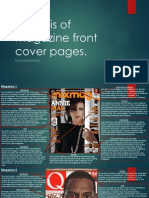 Analysis of Magazine Front Cover Pages
