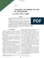 Études sur les nuoc-mam de poissons de mer en Côte d'Ivoire