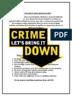 Crime Prevention Poster