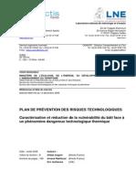 Caracterisation Vulnerabilite Thermique Continu B 01-07-2008 Cle779614