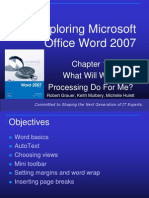 Exploring Microsoft Office Word 2007 Ch1