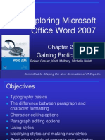 Exploring Microsoft Office Word 2007 Ch2