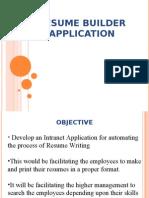 Resume Bulider Ppt Feasibility Study Databases