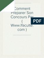 Comment Preparer Son Concours Par ( Www.lfaculte.com )
