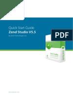 Zend Studio QuickStart Guide v550 New