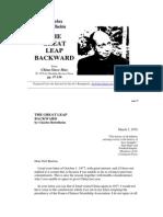 Charles Bettelheim - The Great Leap Backward