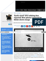 Www Examiner Com Article Earth Sized Ufo Orbiting Sun Report