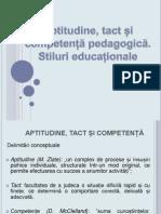 Aptitudine Tact Competente Pedagogice.