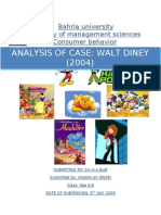 Walt Disney- Case Study Analysis