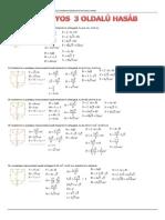 Szabályos 3 és 6 oldalú hasáb felszíne és térfogata