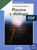Gadamer, Hans-Georg_Poema y Diálogo
