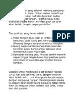Tips Push Up Yang Benar