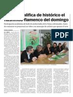 141114 La Verdad CG -Morales Califica de 'Histórico' El Flashmob Flamenco Del Domingo p.3