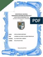 Instalaciones Sanitarias- SISTEMAS DE CONTROL EN REDES PRINCIPALES