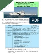 Notification Indian Coast Guard Asst Commandant Posts