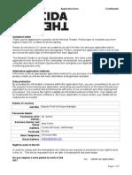 Deputy Front of House Manager Application Form Nov 2014