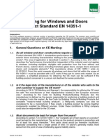 CE Marking for Windows and Doors