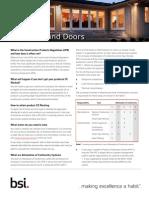 BSI Windows and Doors Factsheet UK En