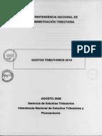 Gastos Tributarios 2010 - Perú