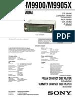 Sony Cdx-m9900, Cdx-m9905x Service Manual
