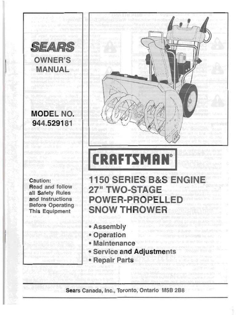 craftsman cpw 1650 manual