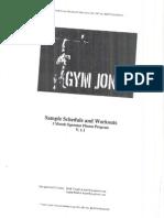 GYM JONES Operator Fitness Program