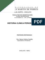 Historia Clínica Periodontal USMP