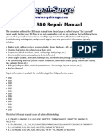 Volvo S80 Repair Manual 1999-2011