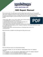 Volvo S80 Repair Manual 1999 2011 Engines Automotive Industry
