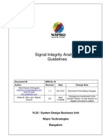 Signal Integrity Analysis Guidelines