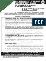 Rrbchennai Cen042014 Notification