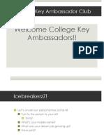 college key ambassador orientation