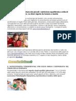 Educazione Alimentare Dei Piccoli Nutrizione Equilibrata e Stile Di Vita Attivo