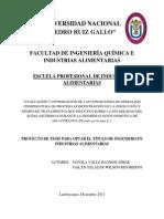 """""""EVALUACIÓN Y OPTIMIZACIÓN DE LAS CONDICIONES DE OPERACIÓN (TEMPERATURA DE PROCESO, CONCENTRACIÓN DE LA DISOLUCIÓN Y TIEMPO DE TRATAMIENTO) QUE INFLUYEN SOBRE LA ESTABILIDAD DEL ÁCIDO ASCÓRBICO DURANTE LA DESHIDRATACIÓN OSMÓTICA DE AGUAYMANTO (Physalis peruviana L.)"""""""
