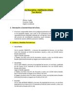 Memoria Descriptiva Habilitaciones Urbanas 2014-2