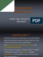 Penatalaksanaan interaksi obat